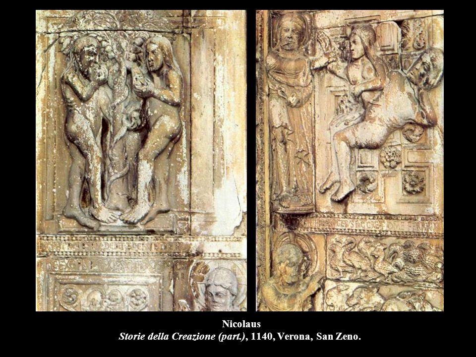 Nicolaus Storie della Creazione (part.), 1140, Verona, San Zeno.