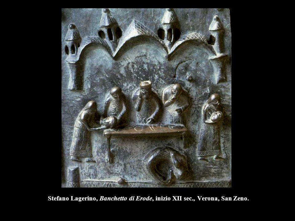 Stefano Lagerino, Banchetto di Erode, inizio XII sec
