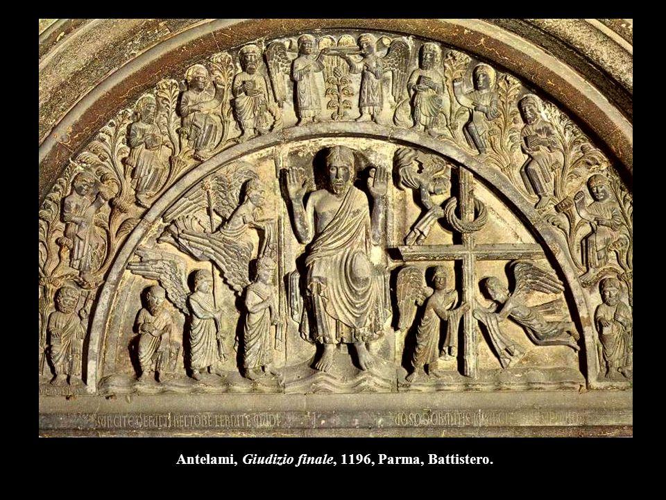 Antelami, Giudizio finale, 1196, Parma, Battistero.