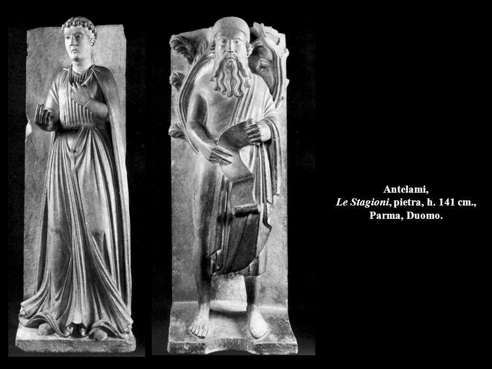 Antelami, Le Stagioni, pietra, h. 141 cm., Parma, Duomo.