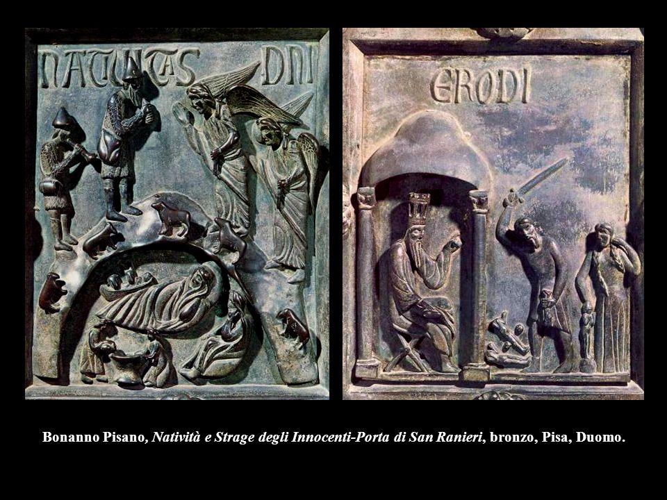 Bonanno Pisano, Natività e Strage degli Innocenti-Porta di San Ranieri, bronzo, Pisa, Duomo.