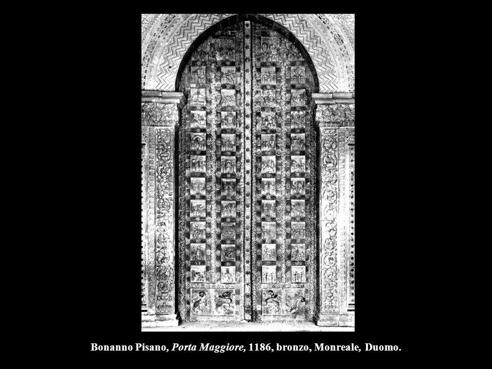 Bonanno Pisano, Porta Maggiore, 1186, bronzo, Monreale, Duomo.
