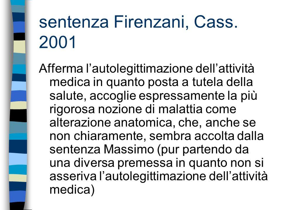 sentenza Firenzani, Cass. 2001
