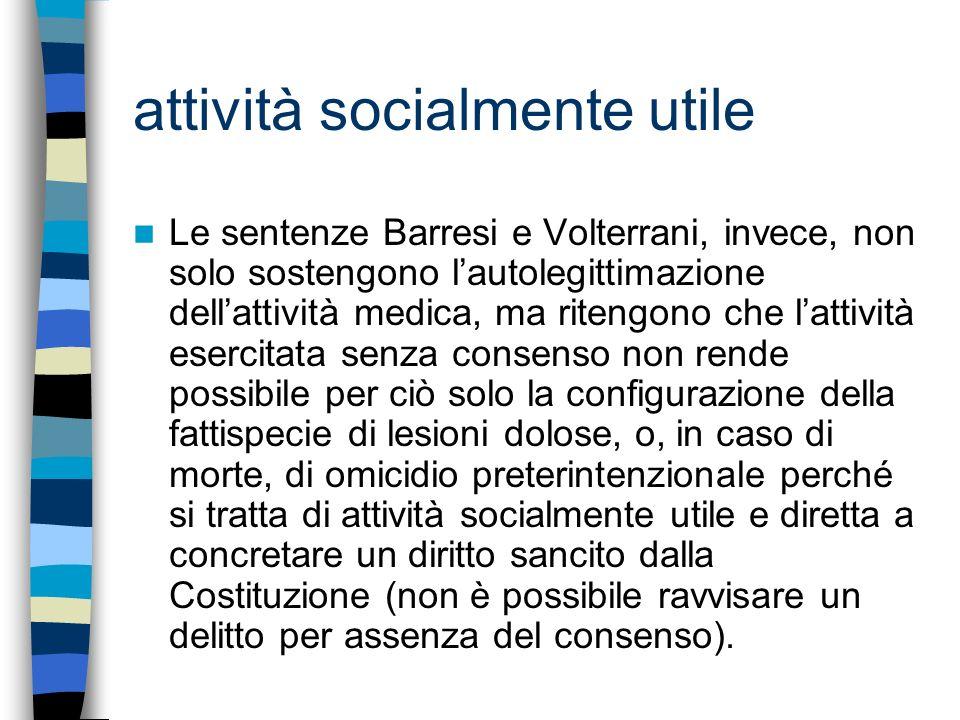 attività socialmente utile