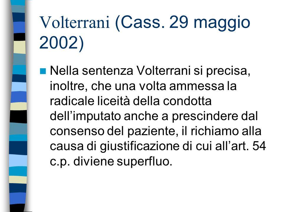 Volterrani (Cass. 29 maggio 2002)