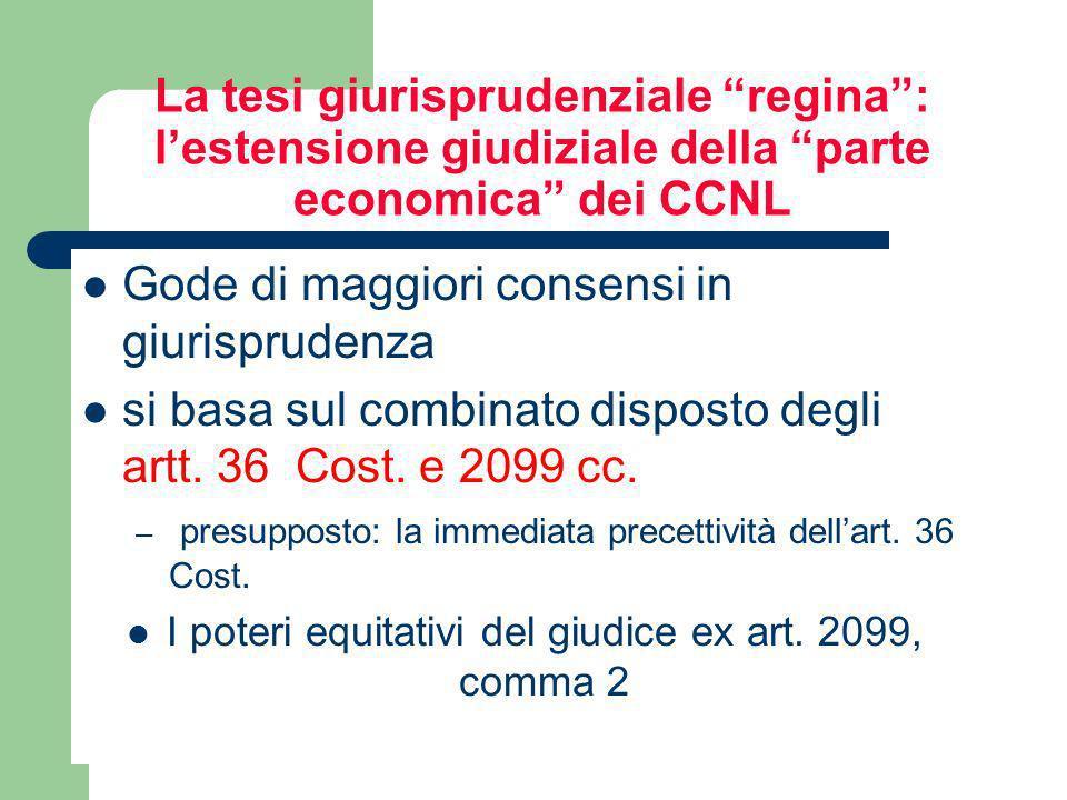 I poteri equitativi del giudice ex art. 2099, comma 2