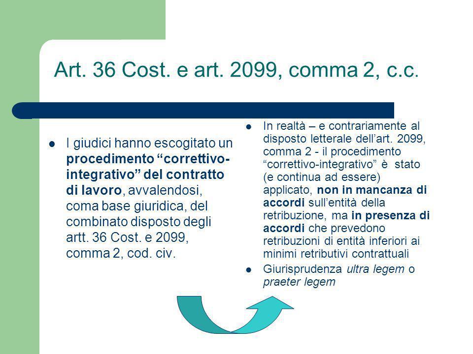 Art. 36 Cost. e art. 2099, comma 2, c.c.