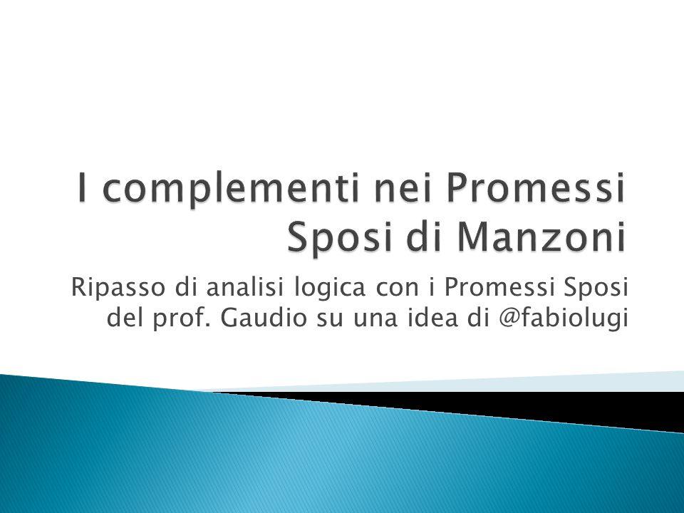 I complementi nei Promessi Sposi di Manzoni