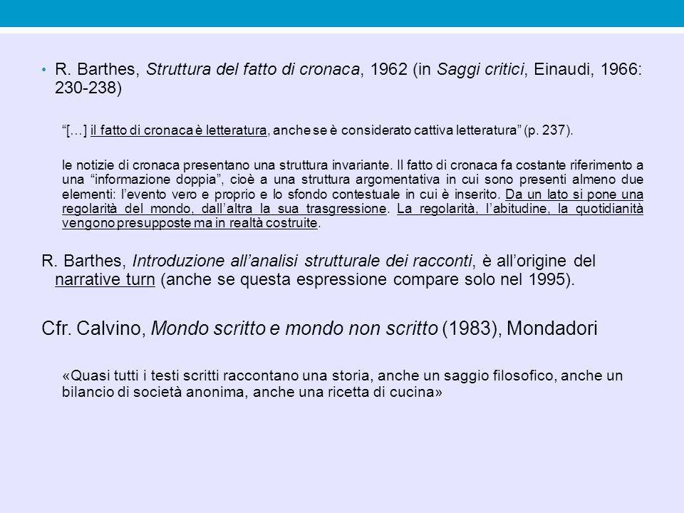 Cfr. Calvino, Mondo scritto e mondo non scritto (1983), Mondadori