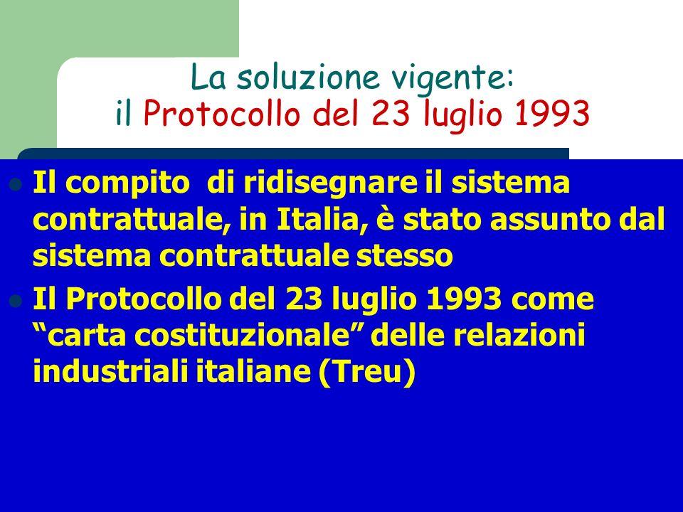 La soluzione vigente: il Protocollo del 23 luglio 1993