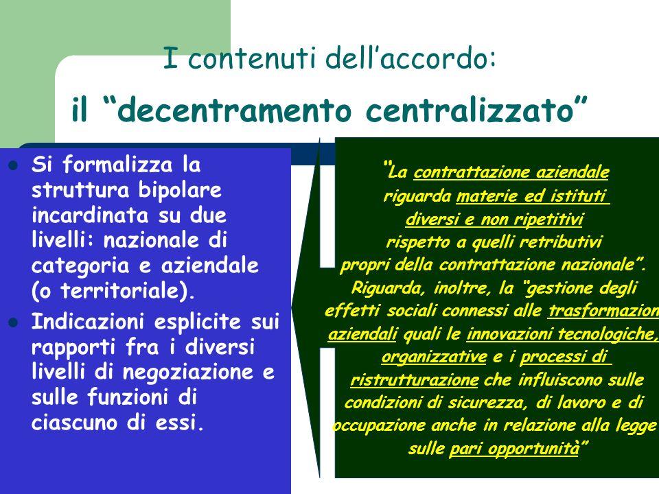 I contenuti dell'accordo: