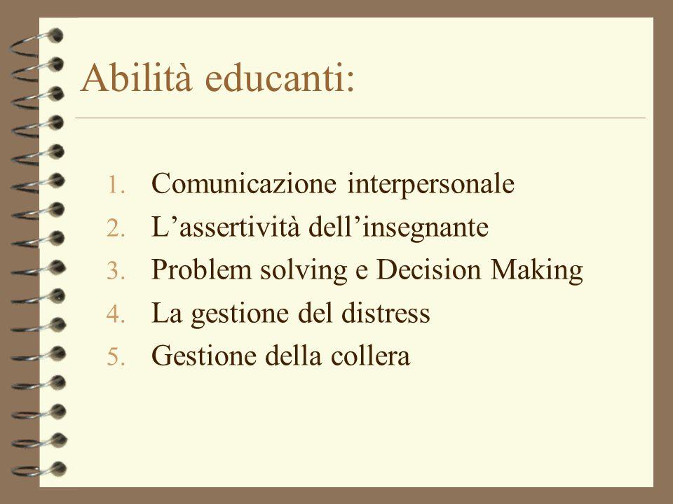 Abilità educanti: Comunicazione interpersonale
