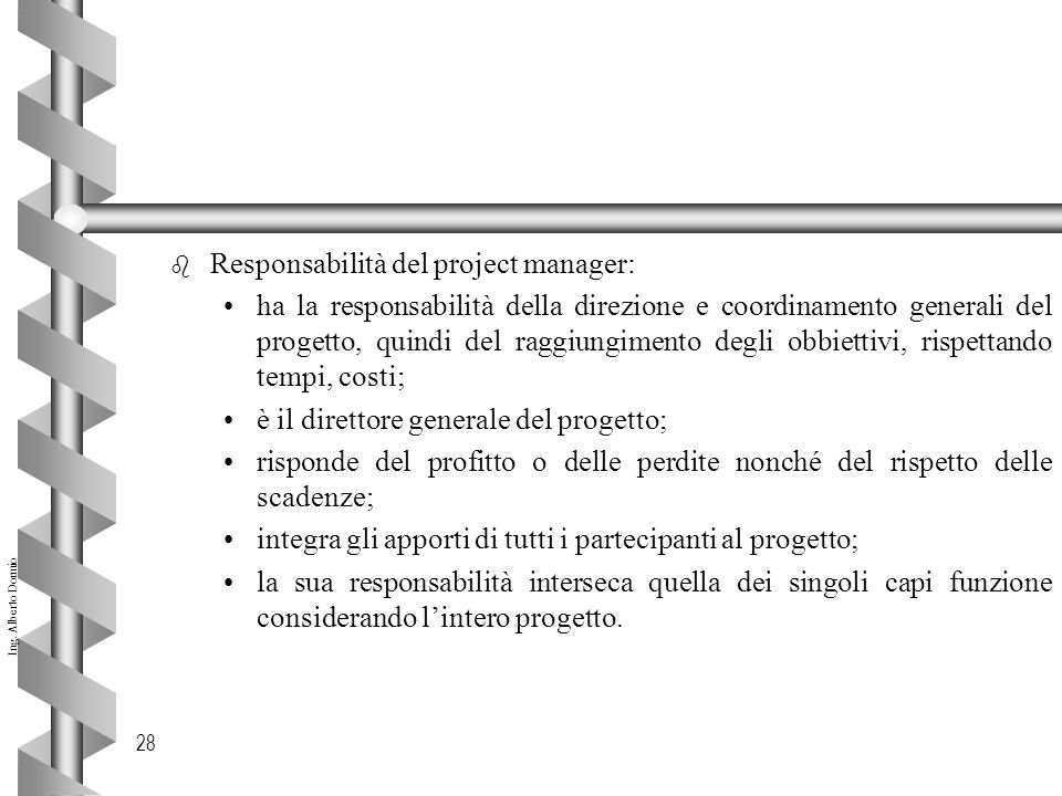 Responsabilità del project manager: