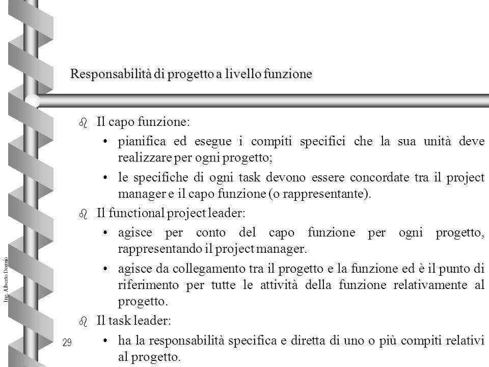 Responsabilità di progetto a livello funzione