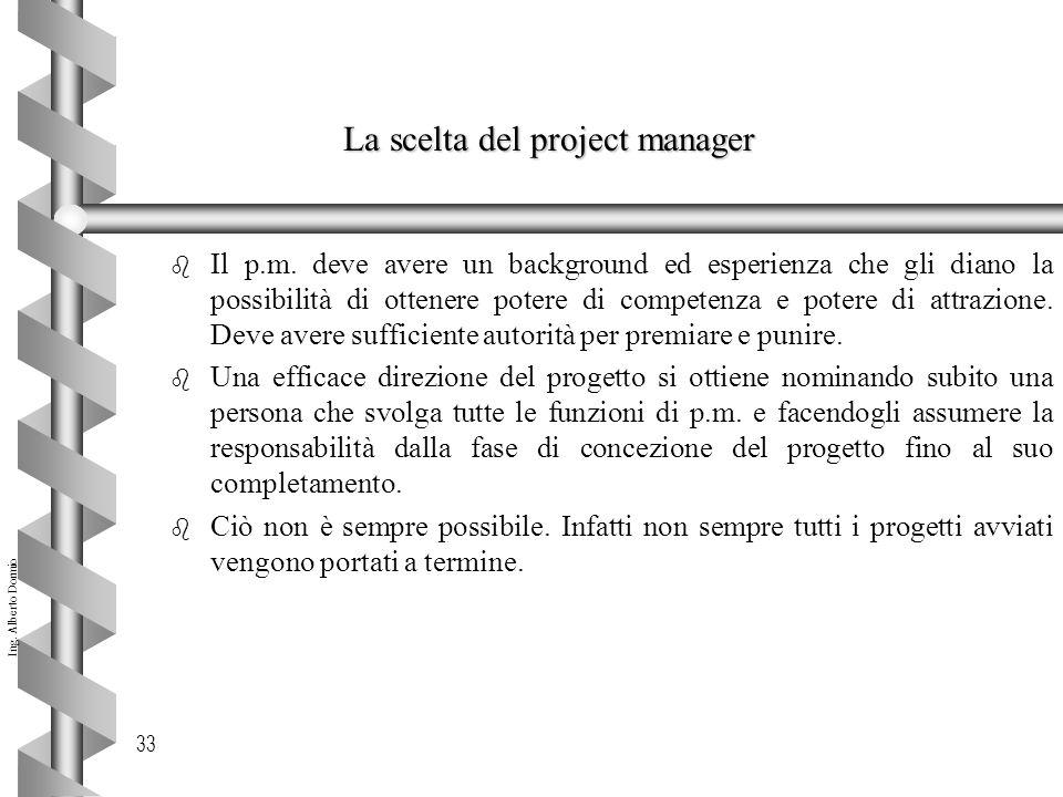 La scelta del project manager