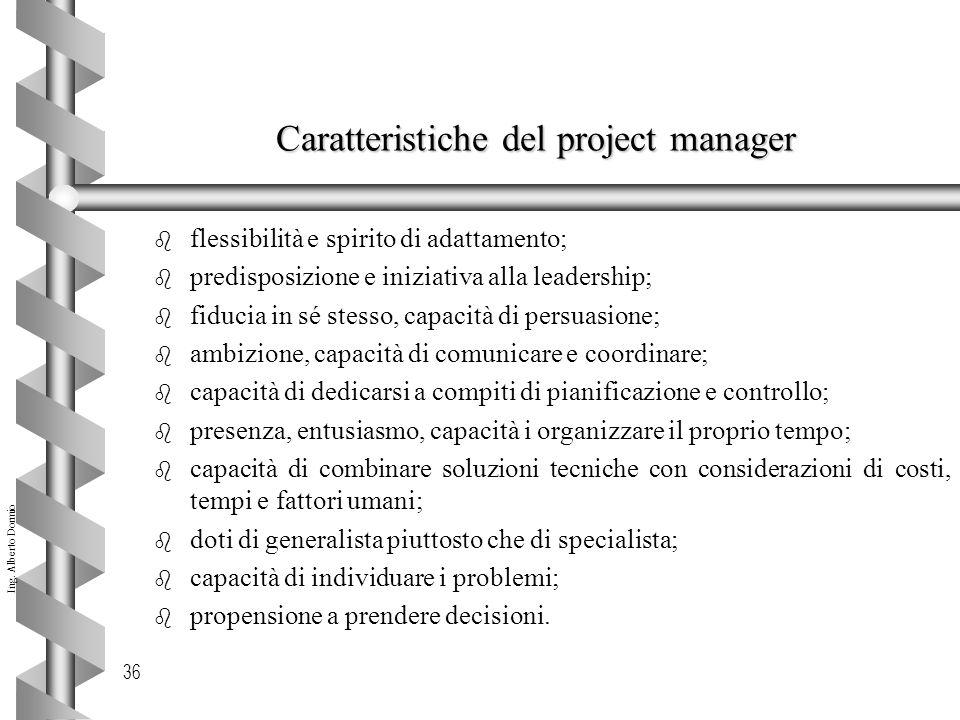 Caratteristiche del project manager