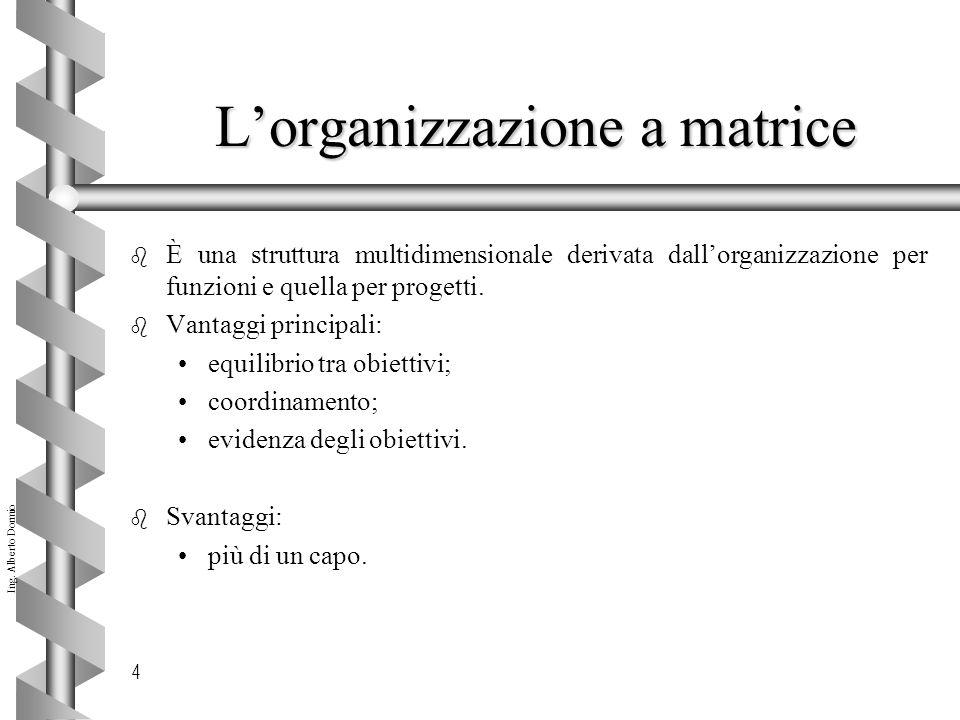 L'organizzazione a matrice