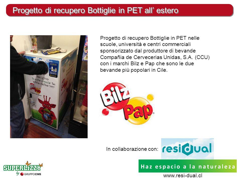 Progetto di recupero Bottiglie in PET all' estero