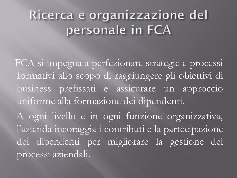 Ricerca e organizzazione del personale in FCA