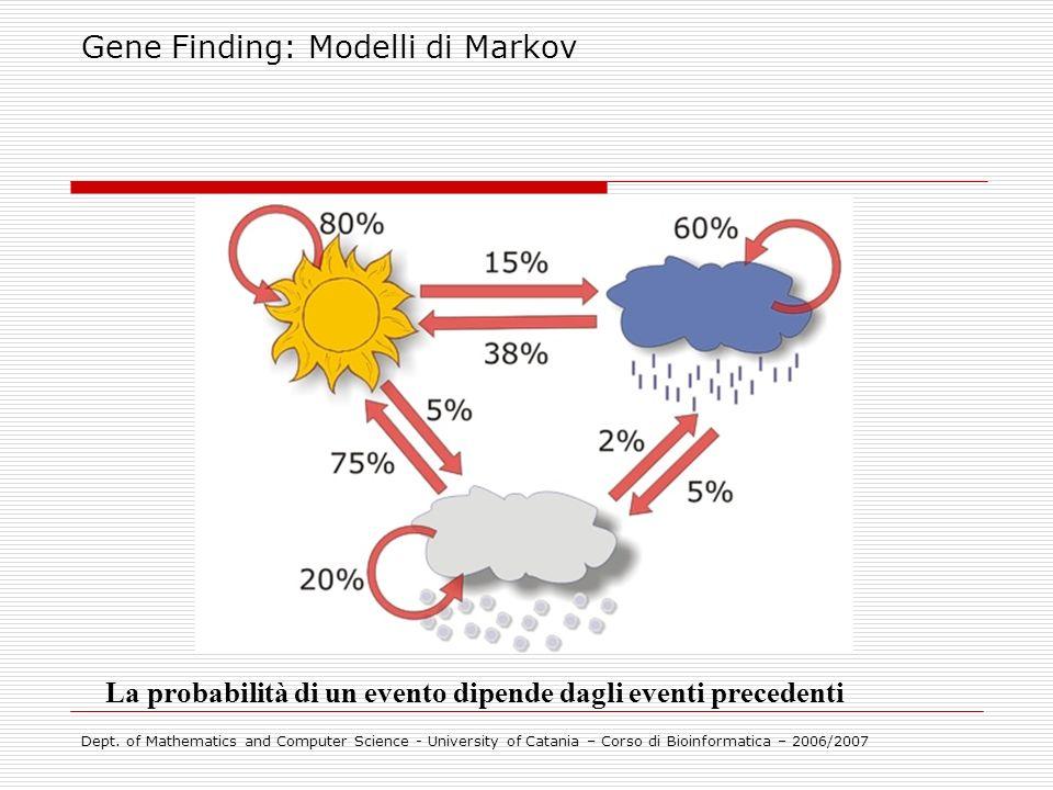 Gene Finding: Modelli di Markov
