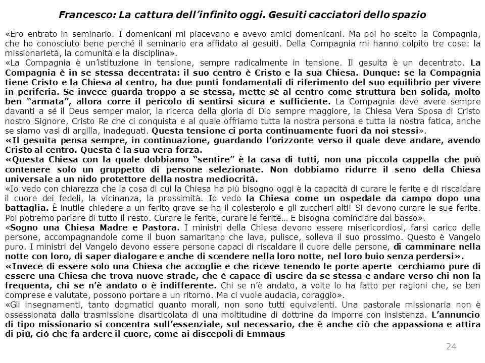 Francesco: La cattura dell'infinito oggi