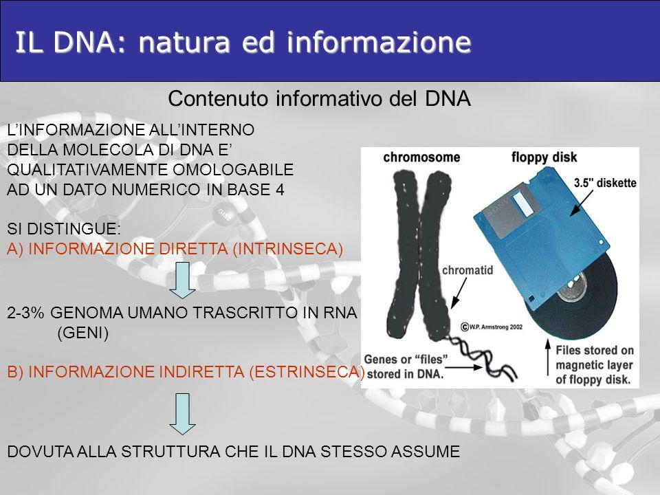 IL DNA: natura ed informazione