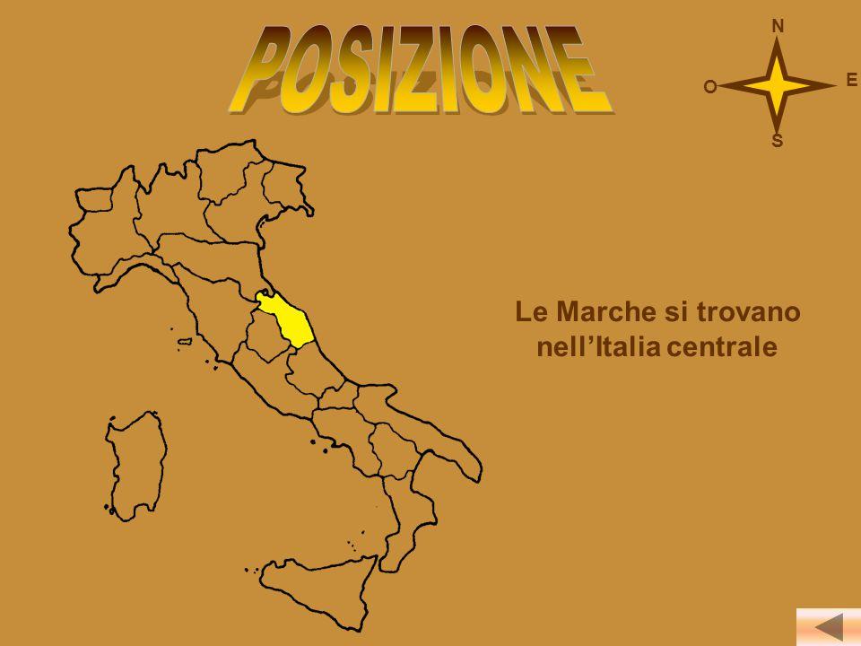 Le Marche si trovano nell'Italia centrale