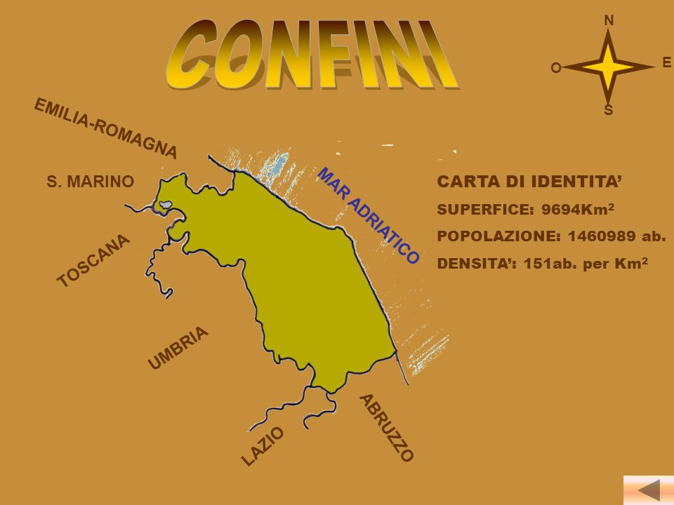 CONFINI N E O S EMILIA-ROMAGNA S. MARINO CARTA DI IDENTITA'