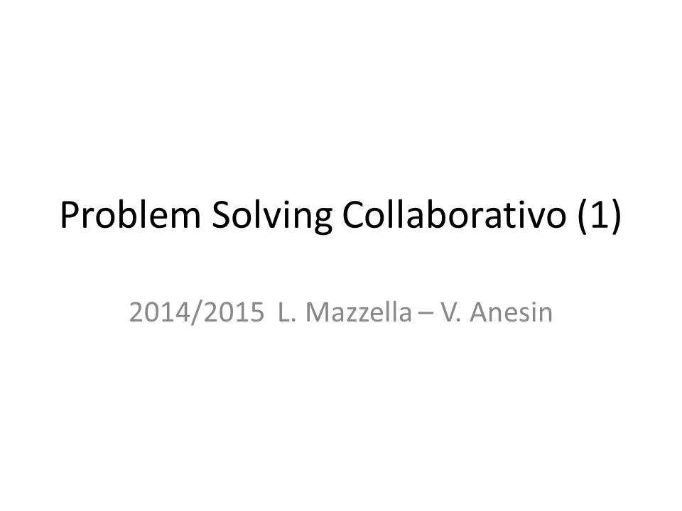 Problem Solving Collaborativo (1)