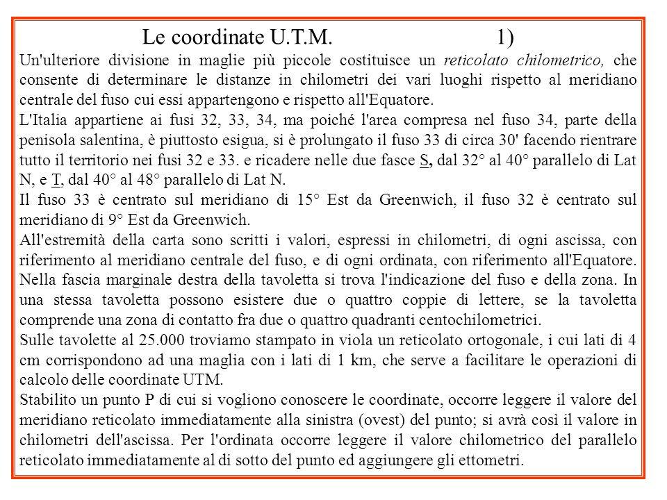 Le coordinate U.T.M. 1)