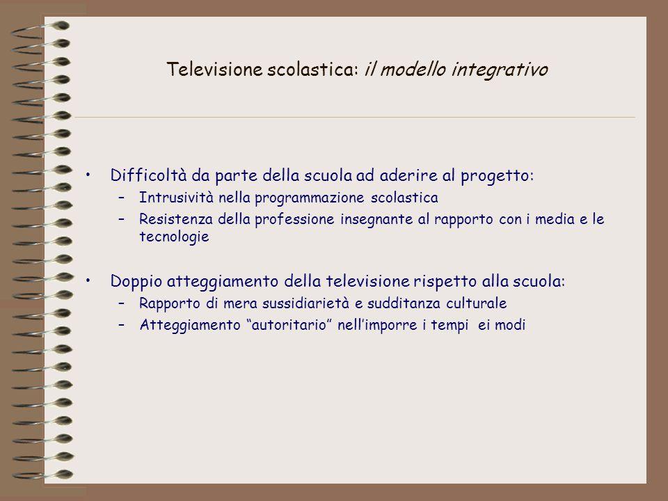 Televisione scolastica: il modello integrativo