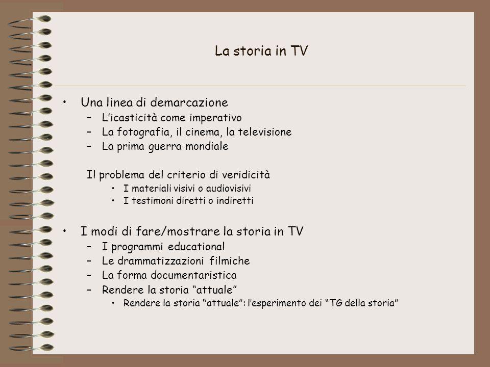 La storia in TV Una linea di demarcazione