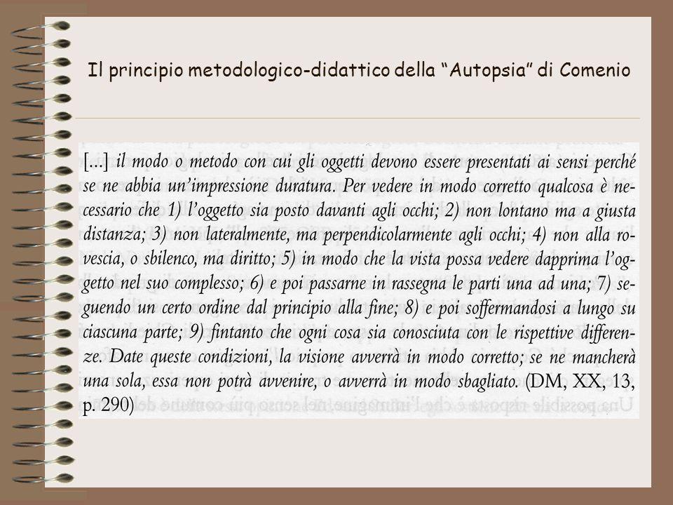 Il principio metodologico-didattico della Autopsia di Comenio