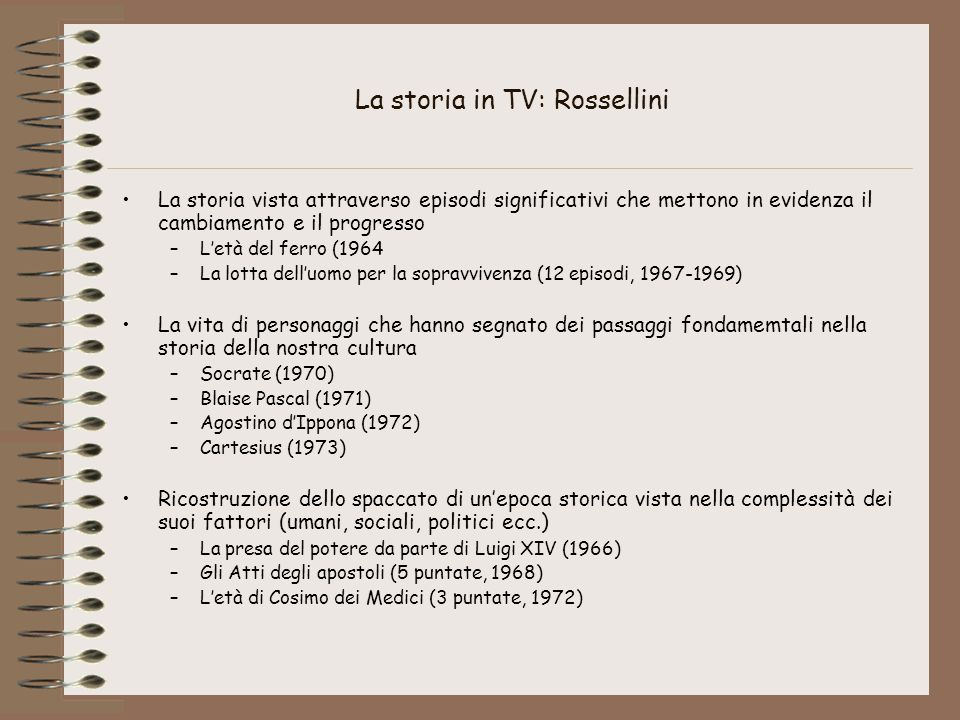 La storia in TV: Rossellini