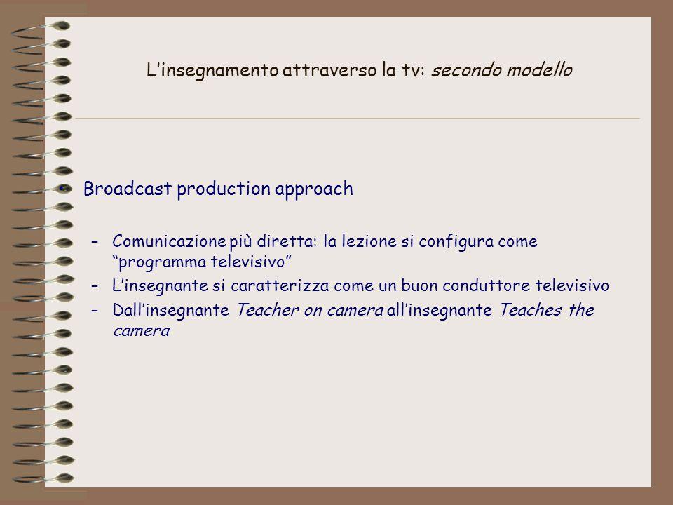 L'insegnamento attraverso la tv: secondo modello