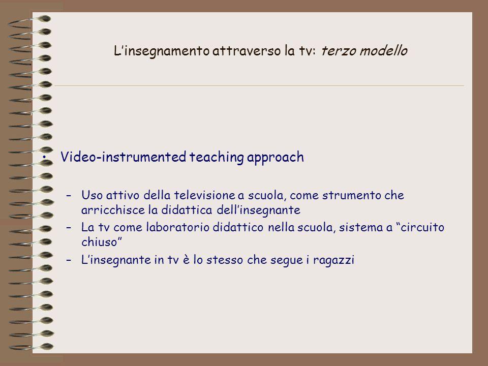 L'insegnamento attraverso la tv: terzo modello