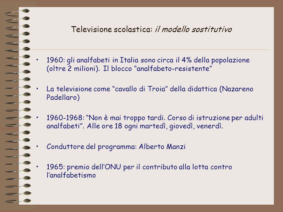 Televisione scolastica: il modello sostitutivo