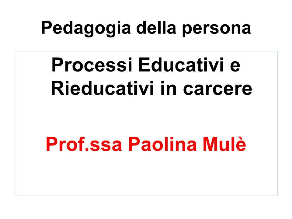 Pedagogia della persona