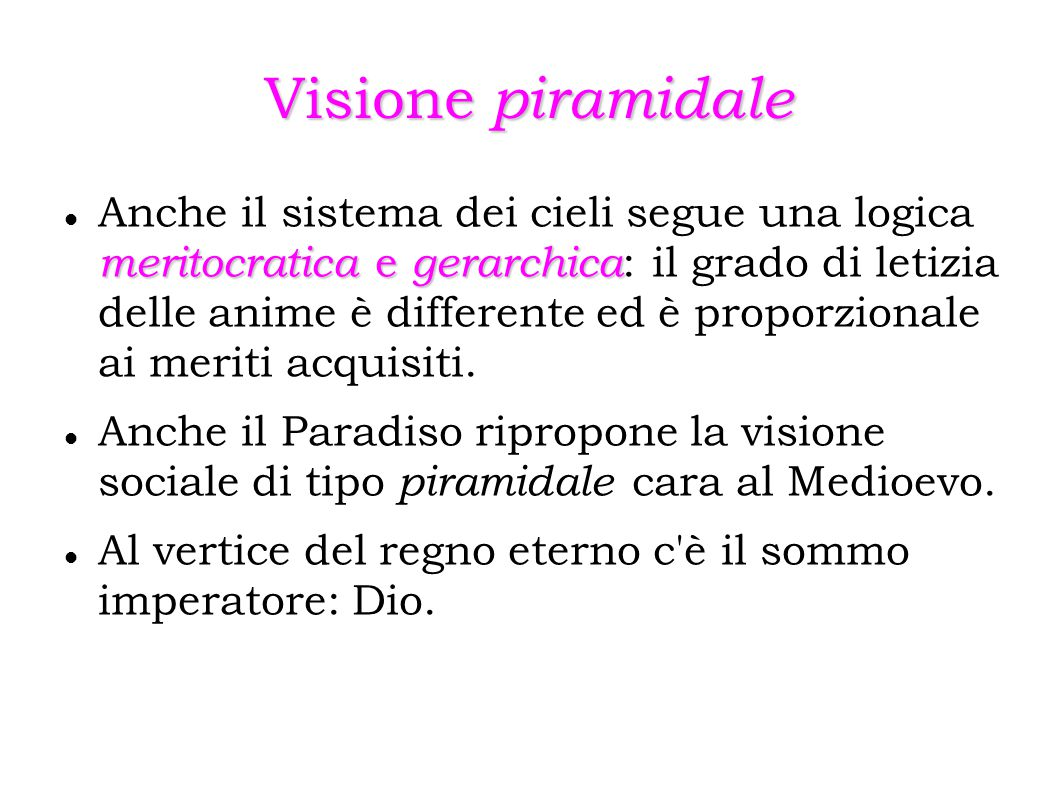 Visione piramidale