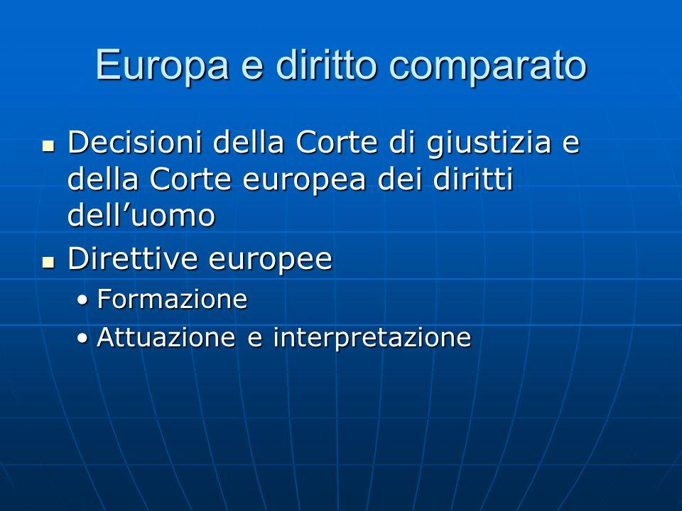 Europa e diritto comparato