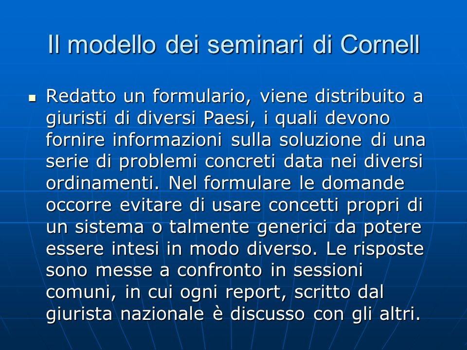 Il modello dei seminari di Cornell