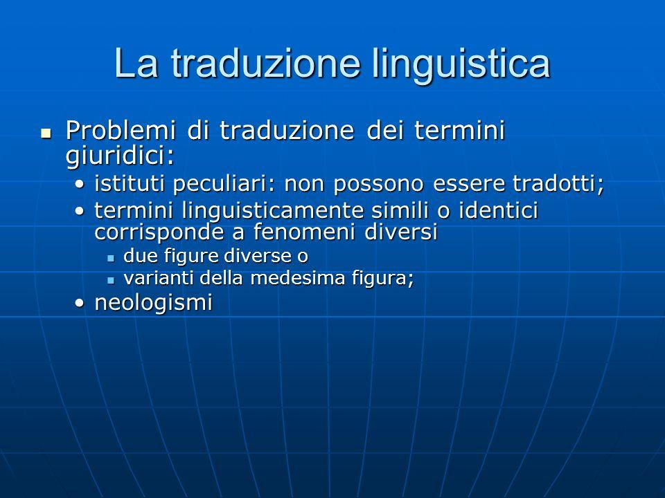 La traduzione linguistica