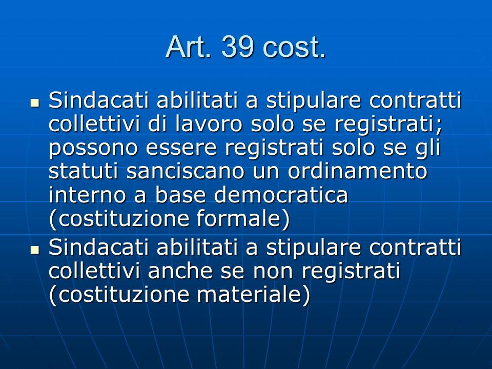 Art. 39 cost.