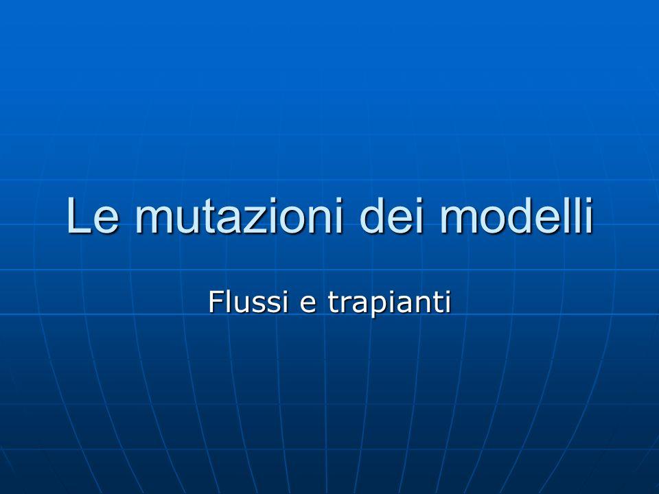 Le mutazioni dei modelli