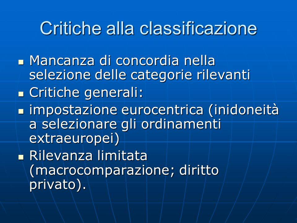 Critiche alla classificazione