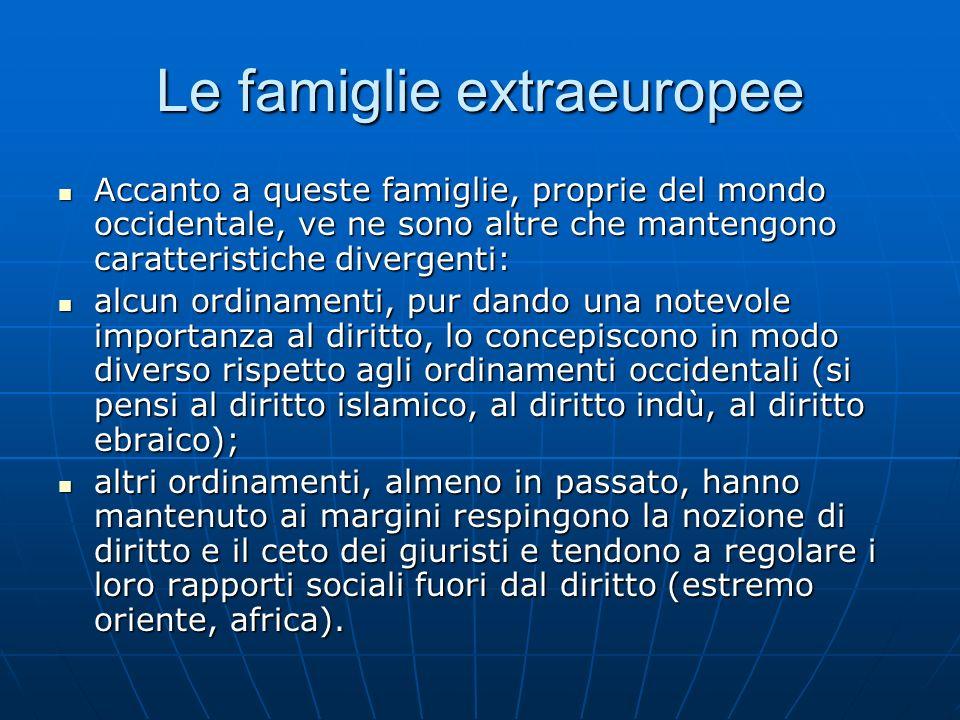 Le famiglie extraeuropee