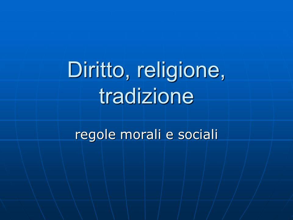Diritto, religione, tradizione
