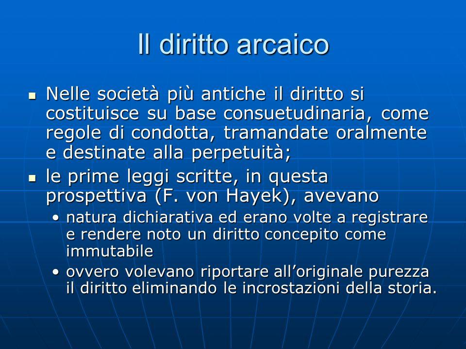 Il diritto arcaico