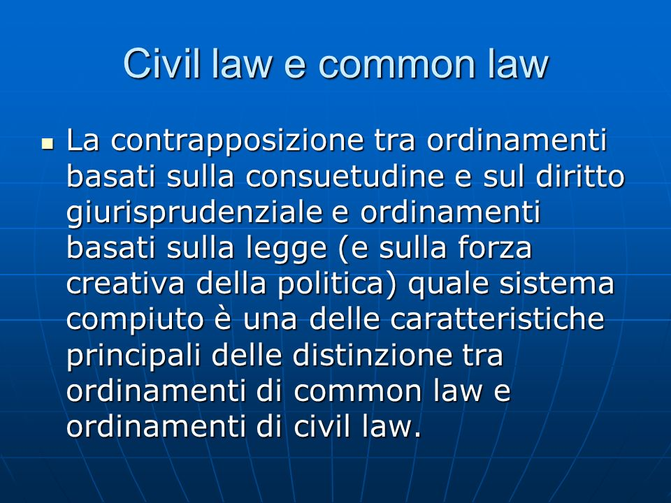 Civil law e common law