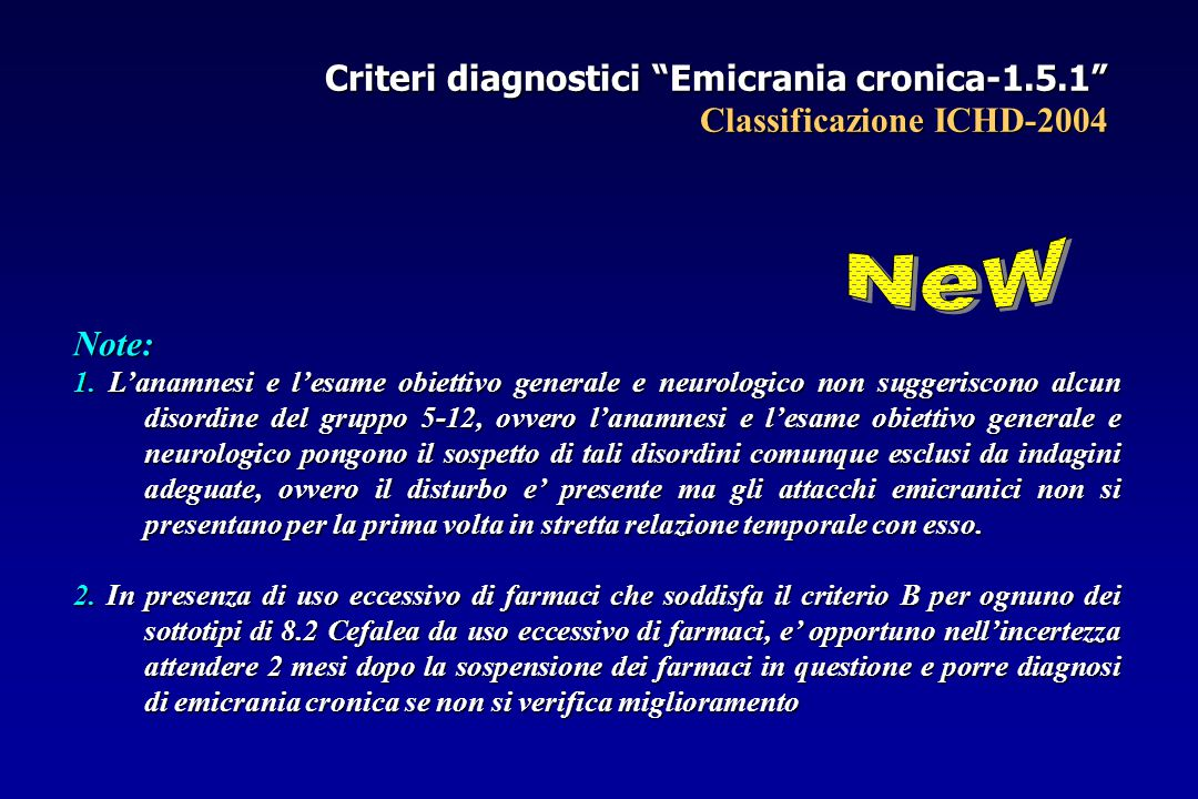 Criteri diagnostici Emicrania cronica-1. 5